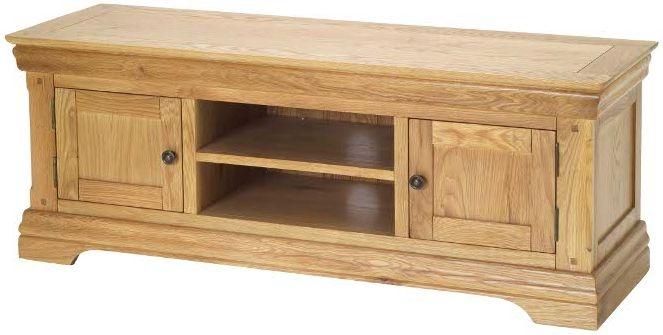 Bayford Solid Oak 2 Door Plasma TV Cabinet