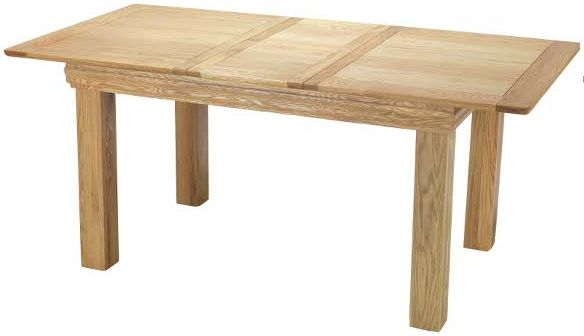 Bayford Solid Oak Rectangular Extending Small Dining Table - 125cm-165cm