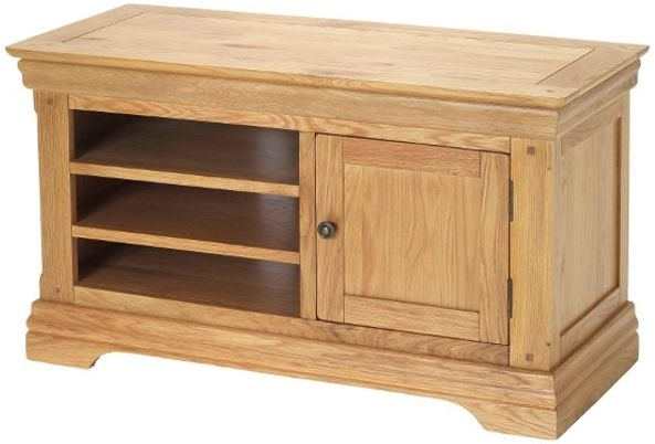 Bayford Solid Oak 1 Door TV Cabinet