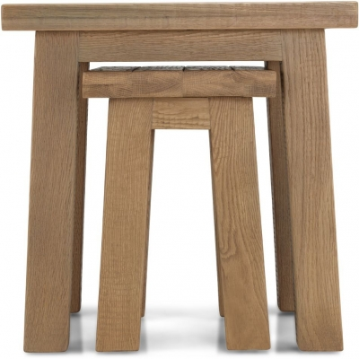 Bourg Oak Nest of Tables