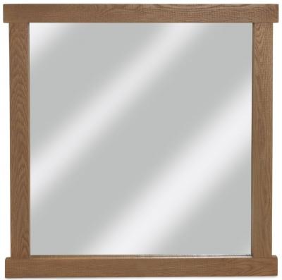 Bourg Oak Rectangular Mirror - 100cm x 75cm