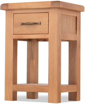 Bradburn Oak 1 Drawer Bedside Cabinet