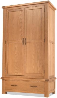 Bradburn Oak 2 Door 1 Drawer Wardrobe