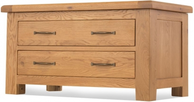 Bradburn Oak 2 Drawer Blanket Box