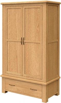 Bradburn Oak 2 Drawer Double Wardrobe