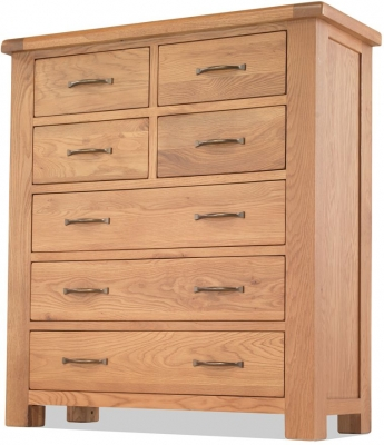 Bradburn Oak 3+4 Drawer Chest