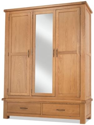 Bradburn Oak 3 Door Combi Wardrobe