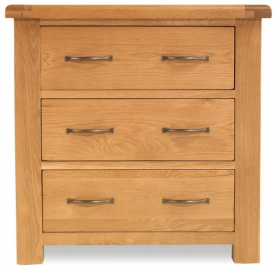 Bradburn Oak 3 Drawer Chest