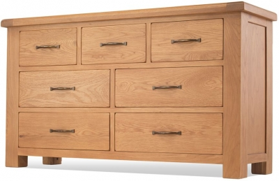 Bradburn Oak 4+3 Drawer Chest