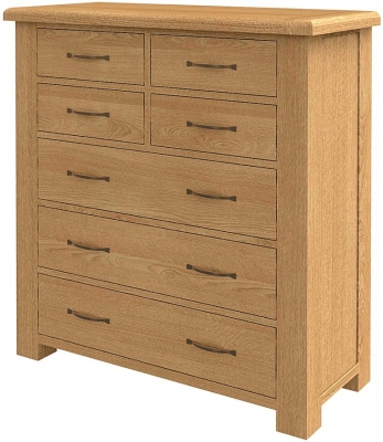 Bradburn Oak 4 Over 3 Chest of Drawer