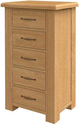 Bradburn Oak 5 Chest of Drawer