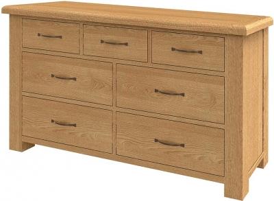 Bradburn Oak Chest of Drawer - 7 Drawer