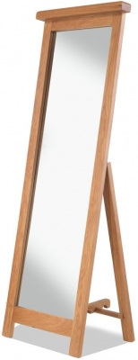 Bradburn Oak Cheval Mirror
