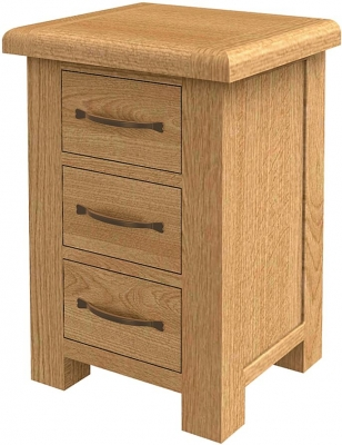 Bradburn Oak Large 3 Drawer Bedside Cabinet
