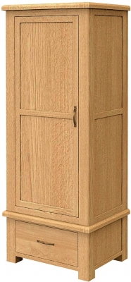 Bradburn Oak Single Wardrobe