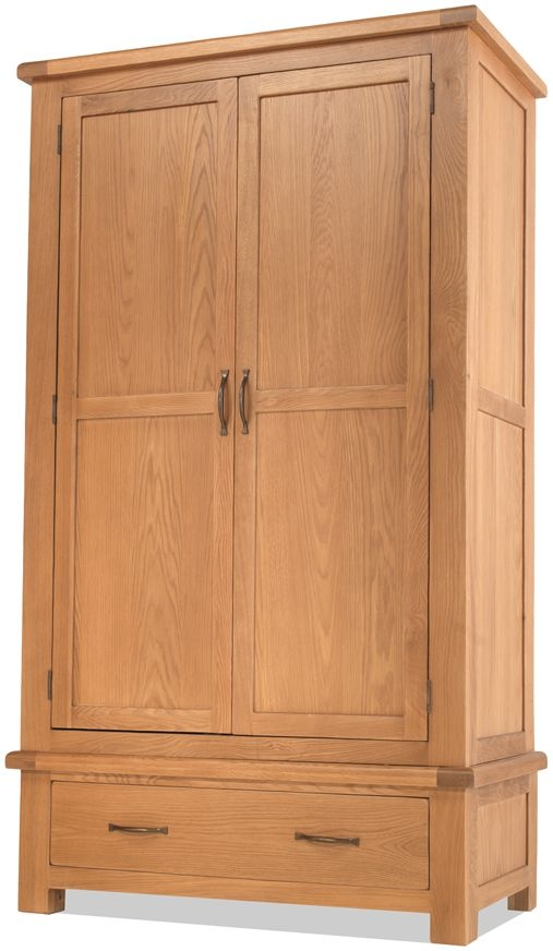 Bradburn Oak 2 Door 1 Drawer Wardrobe