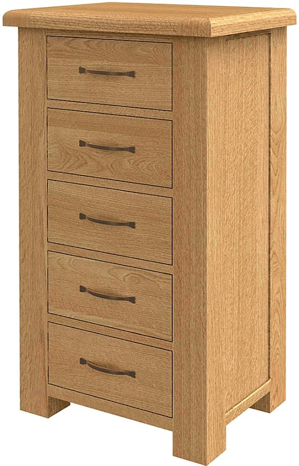 Bradburn Oak 5 Chest of Drawer