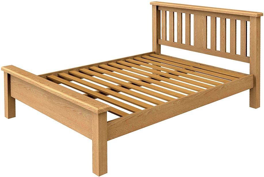 Bradburn Oak Low Foot End Bed