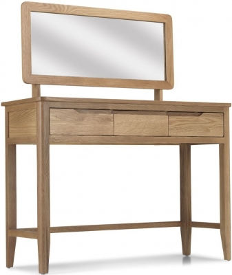 Bresca Oak Dressing Table with Mirror