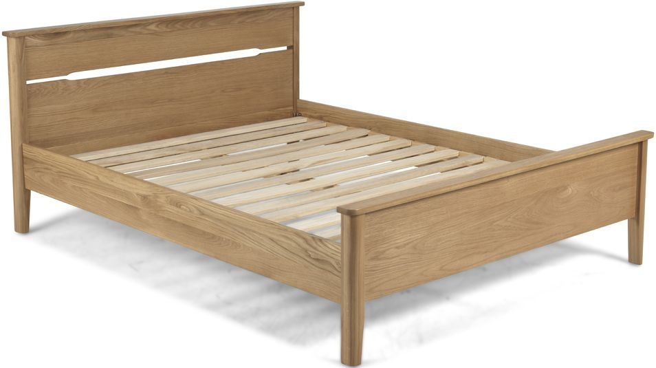 Bresca Solid Oak Low Foot End Bed