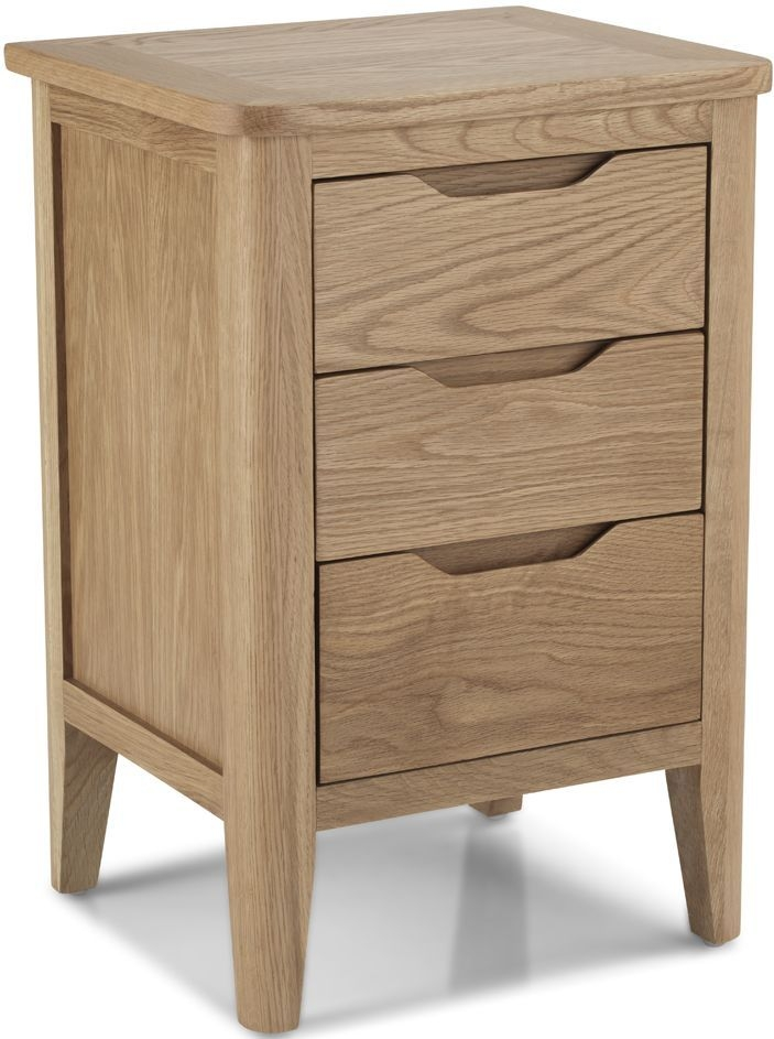 Bresca Solid Oak 3 Drawer Bedside Cabinet