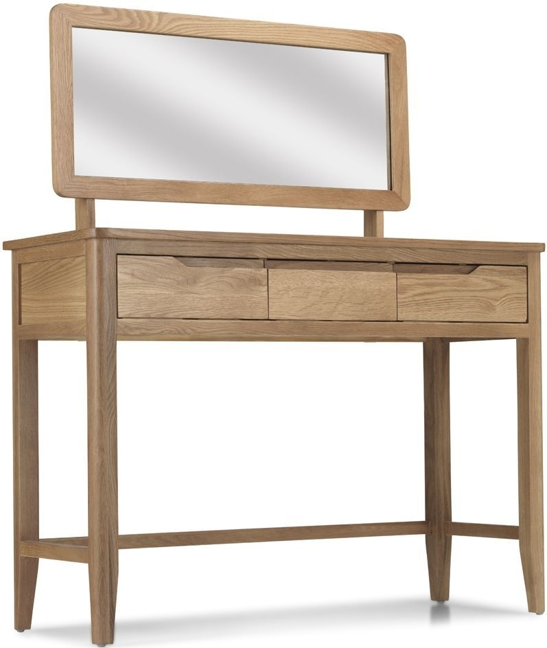 Bresca Oak Dressing Table with Mirror
