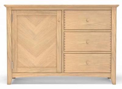 Celina Oak 1 Door Sideboard