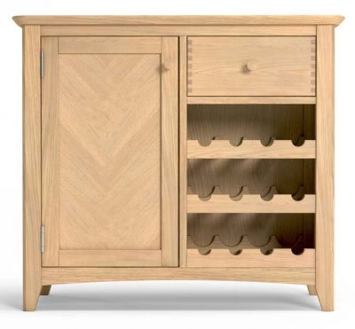 Celina Oak 1 Door Winerack