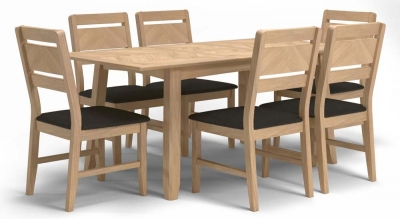 Celina Oak Extending Dining Table and 6 Chairs