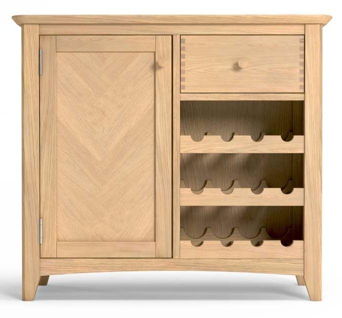 Celina Oak 1 Door Winerack