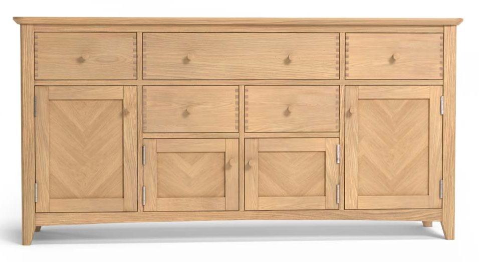 Celina Oak 4 Door Extra Large Sideboard
