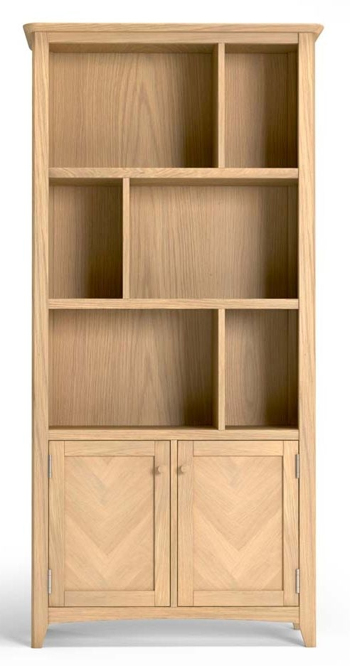 Celina Oak Multi Display Bookcase
