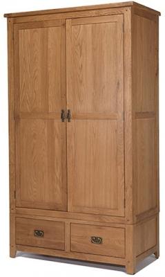 Cherington Oak 2 Door 2 Drawer Wardrobe