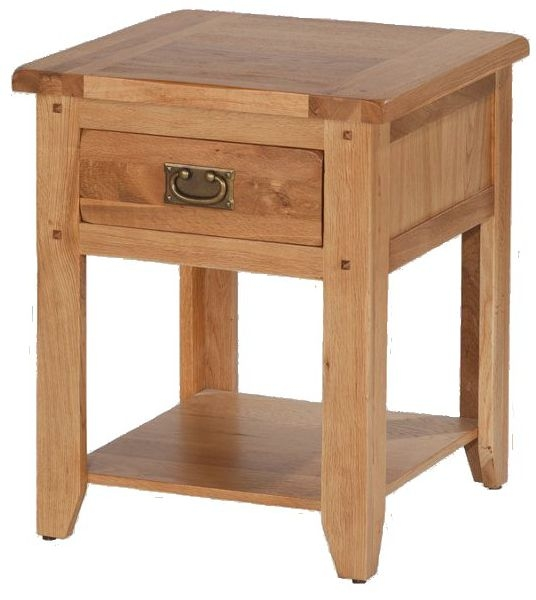 Cherington Oak 1 Drawer Bedside Table