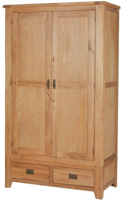 Cherington Oak Double Wardrobe with Drawer