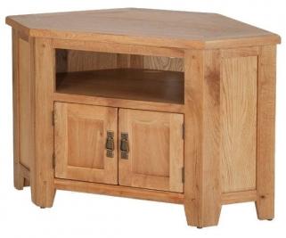 Cherington Oak Corner TV Cabinet