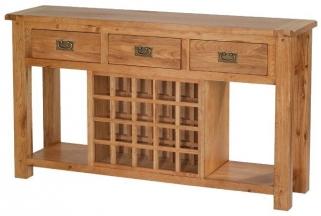 Cherington Oak Sideboard with Wine Rack