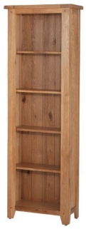 Cherington Oak Tall Slim Bookcase