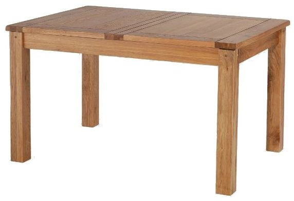 Cherington Oak Rectangular Extending Dining Table - 132cm-198cm