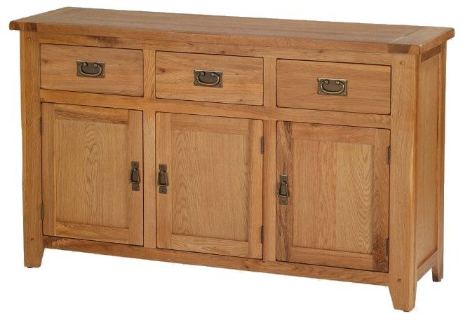 Cherington Oak 3 Door 3 Drawer Large Sideboard