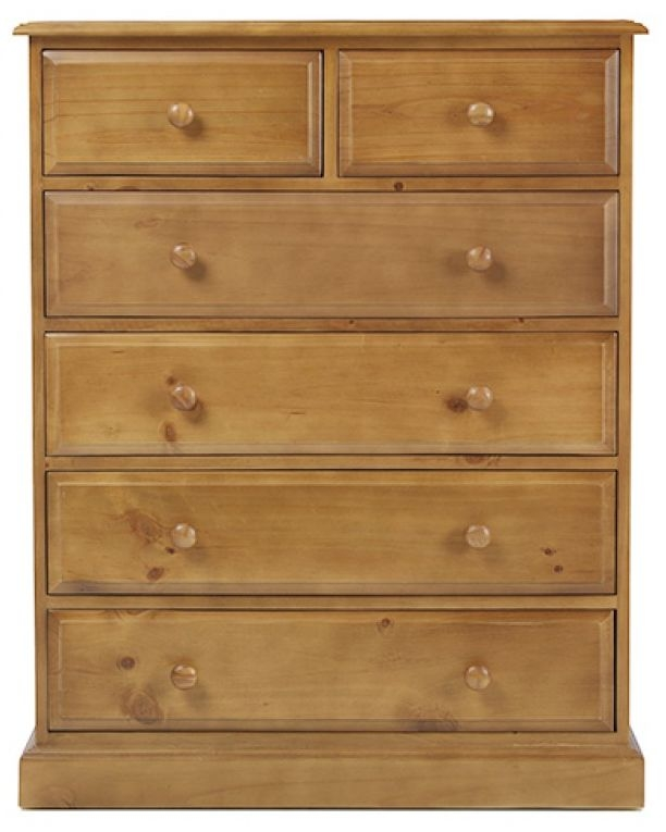 Churchill Pine 4+2 Drawer Chest