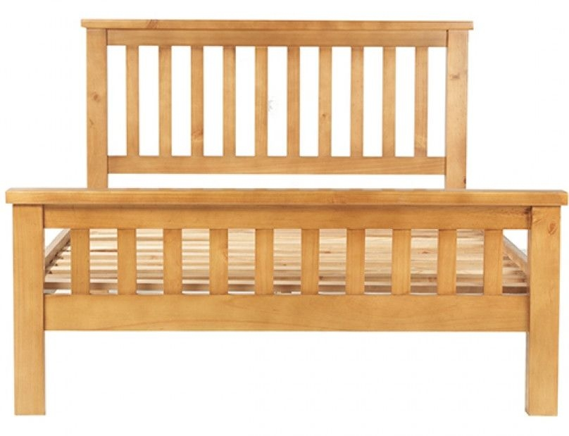 Churchill Pine High Foot End Bed