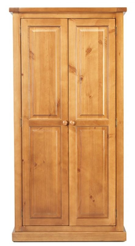 Churchill Pine 2 Door Ladies Double Wardrobe
