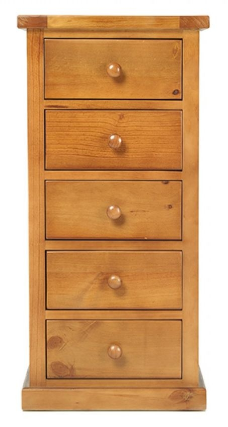 Churchill Pine Wellington 5 Drawer Tall Chest