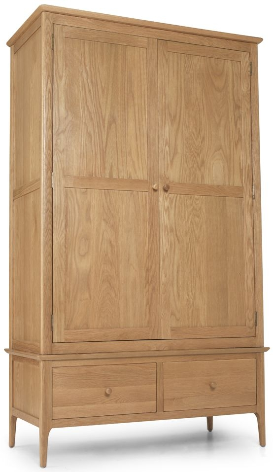 Cornett Oak Double Wardrobe With Drawer