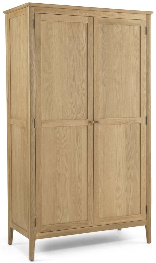 Cornett Solid Oak 2 Door Full Hanging Wardrobe