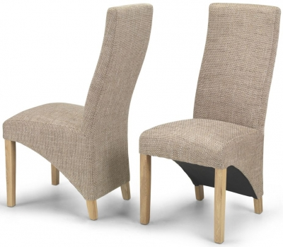 Ariton Beige Tweed Fabric Dining Chair (Pair)