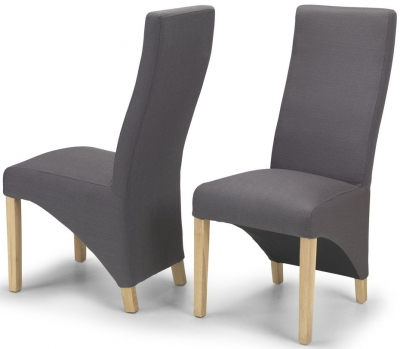 Ariton Grey Fabric Dining Chair (Pair)