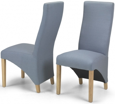 Ariton Slate Fabric Dining Chair (Pair)