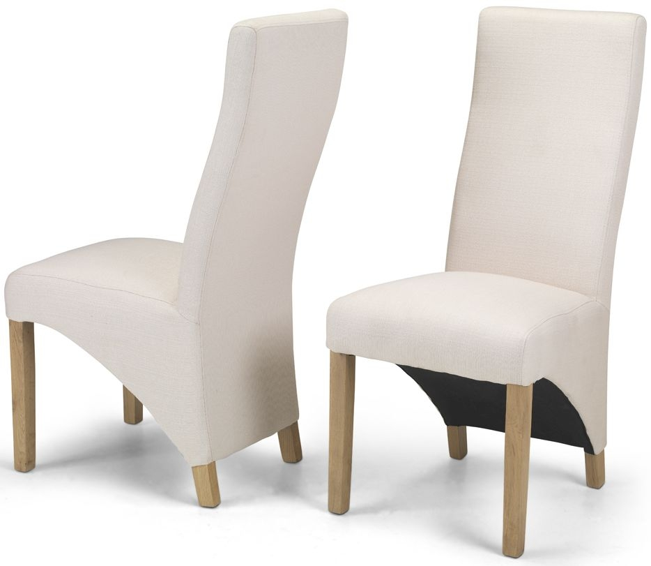 Ariton Ivory Fabric Dining Chair (Pair)
